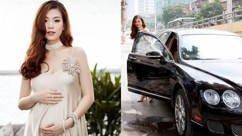 Á hậu Diễm Trang được đưa đón bằng xế tiền tỷ khi mang bầu tháng thứ 5