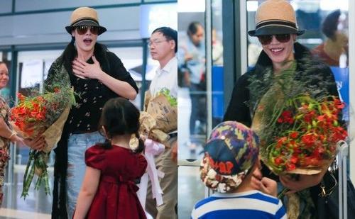 Fan nhí đội nắng ra sân bay đón Thu Phương