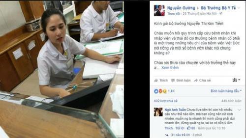 Bức xúc Bệnh viện Việt Đức, lên Facebook viết tâm thư gửi Bộ trưởng Tiến