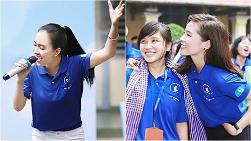 Ái Phương, Kỳ Duyên 'quậy' tưng bừng cùng sinh viên ĐH Khoa học Tự nhiên TP HCM