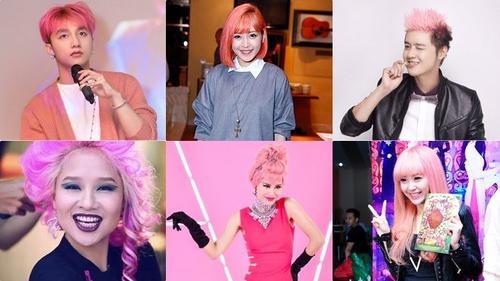 Khóc - cười chuyện xấu, đẹp khi các sao Việt nhuộm tóc hồng
