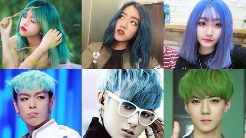 Nhờ những gương mặt này mà tóc xanh trở thành hot-trend trong giới trẻ Việt