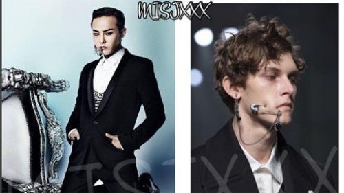 G-Dragon gây choáng khi 'học đòi' mẫu nam Alexander McQueen xỏ khuyên ngang má