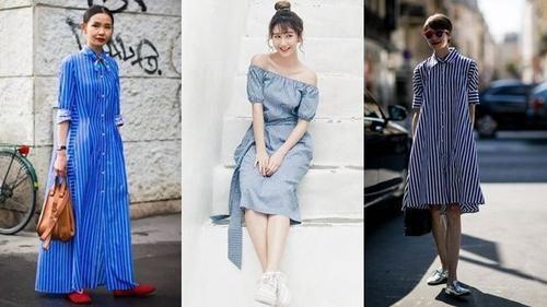 Đầm kẻ sọc - item buộc phải có trong tủ đồ các nàng mùa này