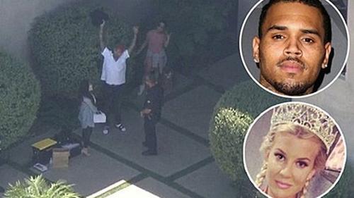 Hollywood chấn động vì Chris Brown cầm súng dọa giết Cựu Hoa hậu California