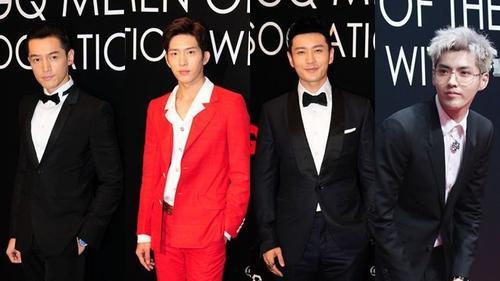 Dàn nam thần Hoa ngữ quyết liệt 'đọ sắc' trên thảm đỏ GQ 2016