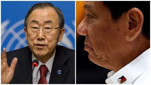 Tổng thống Philippines thóa mạ tổng thư ký LHQ, gọi ông Ban Ki-moon là 'thằng ngu'