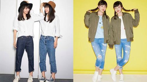 Gout thời trang đơn giản mà gây nghiện của cặp sinh đôi cover nổi nhất Nhật Bản