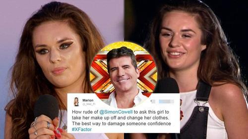 Simon Cowell 'hứng gạch' khi yêu cầu thí sinh X-Factor tháo makeup trên sóng truyền hình