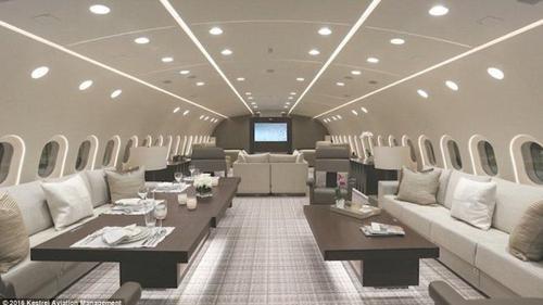 Máy bay riêng sang trọng như khách sạn 5 sao