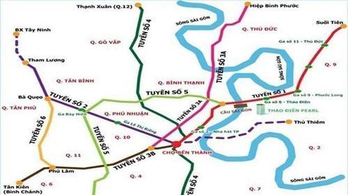 Hơn 41.000 tỷ đồng xây dựng tuyến metro số 5 ở Sài Gòn