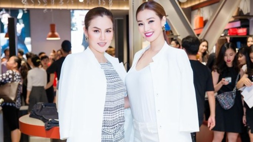 Á hậu Phương Lê, Khánh My đọ sắc tại sự kiện từ thiện của gia đình chồng Hà Tăng