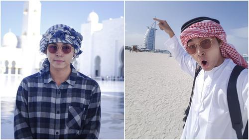 'Soái ca' Jun Phạm 'xì tin' hết cỡ tại Dubai