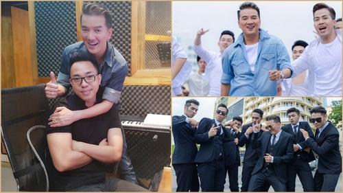 Mr. Đàm cùng Nguyễn Hồng Thuận gây náo loạn phố đi bộ với dàn trai đẹp 6 múi