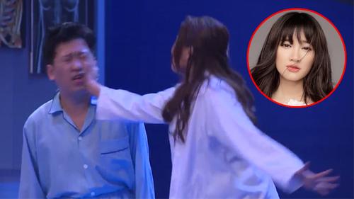 Thúy Diễm thẳng tay tát Trường Giang ngay trên sóng truyền hình vì dám 'ngoại tình' với Nhã Phương