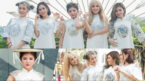 Quán quân X Factor Minh Như phá cách với 'mấn mây', cùng S Girls dạo phố xuân Đinh Dậu