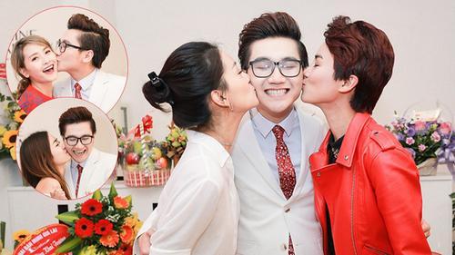 MC Công Tố bối rối bị hàng loạt mỹ nhân Việt 'cưỡng hôn'