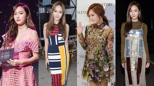 Ở diễn biến khác, Jessica Jung đã sang mà còn 'chảnh' hết nấc với phong cách thời trang như thế này