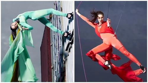 Hết lướt đi trên mặt nước, thí sinh The Face Thái lại leo trèo trên không như… 'người nhện'