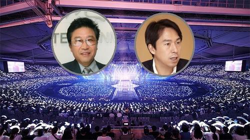 Netizen thích thú với phản ứng trái ngược của 2 'ông trùm' SM khi đến concert EXO