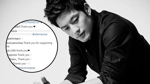 Fan cảm ơn Se7en vì đã động viên T.O.P trong giai đoạn khó khăn