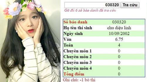 Lộ bảng điểm thi tốt nghiệp được cho là của hot girl Linh Ka 2k2