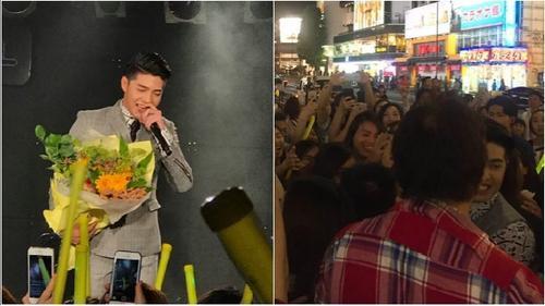 Clip: Soái ca Noo Phước Thịnh bị fan 'vây kín' sau buổi diễn tại Nhật Bản