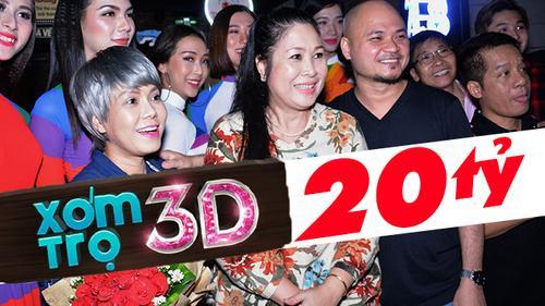 Hồng Vân, Việt Hương, Minh Nhí mừng rỡ khi 'Xóm trọ 3D' đạt 20 tỷ