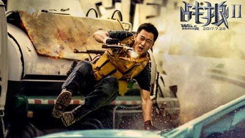 Vượt qua 'Mỹ nhân ngư' của Châu Tinh Trì, 'Chiến Lang 2' của Ngô Kinh trở thành bộ phim đoạt 1 tỷ NDT nhanh nhất