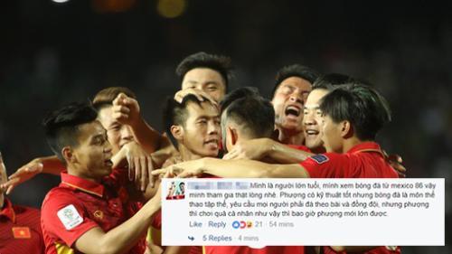 Fan thất vọng ra mặt với trận thắng hú vía của tuyển Việt Nam