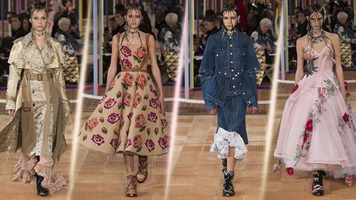 Alexander McQueen mang cả khu vườn mùa hè của nước Anh lên sàn diễn tại Paris