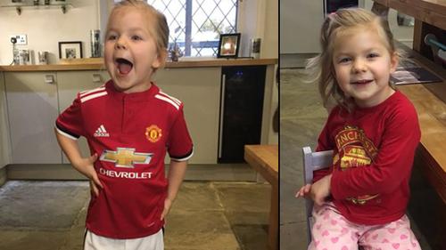 Cô bé 3 tuổi đọc vanh vách tên cầu thủ được MU gửi vé VIP đến tận nhà