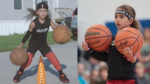 Thích thú trước kỹ năng siêu đẳng của thần đồng bóng rổ 7 tuổi