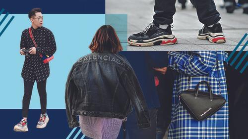 'Cơn sốt' phụ kiện Balenciaga 'phủ sóng' đường phố Seoul Fashion Week