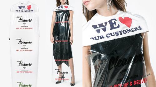 Moschino lại khiến dân tình 'đảo điên' vì chiếc váy được làm từ túi giặt là có giá sốc