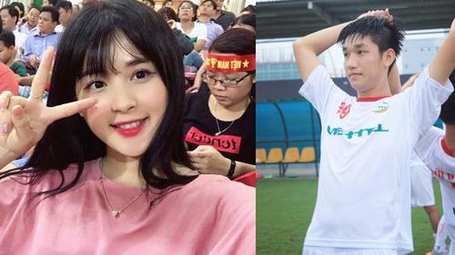 Hot girl 'gây sốt' sân Mỹ Đình là người yêu của đội trưởng U20 Việt Nam