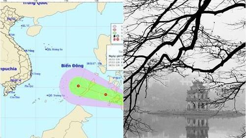 Áp thấp xuất hiện gần biển Đông, miền Bắc rét đậm