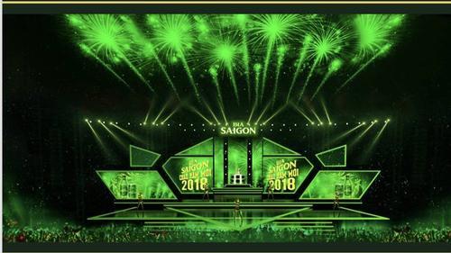 Lễ hội âm nhạc đếm ngược hoành tráng lần đầu tiên được tổ chức tại TP Vinh