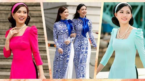 Sau thời gian vắng bóng, Diễm Trang rủ Thanh Tú diện áo dài 'Cô Ba Sài Gòn' dạo phố
