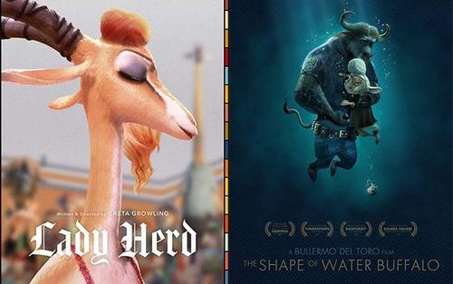 Disney tiếp tục 'chơi lầy' khi tung poster chế loạt phim Oscar phiên bản động vật 'Zootopia'