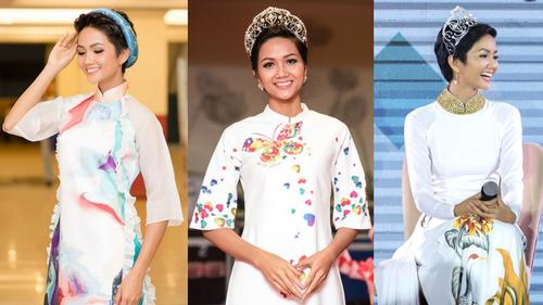 H'Hen Niê: Hoa hậu tóc ngắn, da nâu chăm diện áo dài nhất Việt Nam!