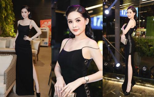 Hoa hậu Ngân Anh khoe sắc 'nóng bỏng' với váy áo xẻ lườn trở thành tâm điểm sự kiện