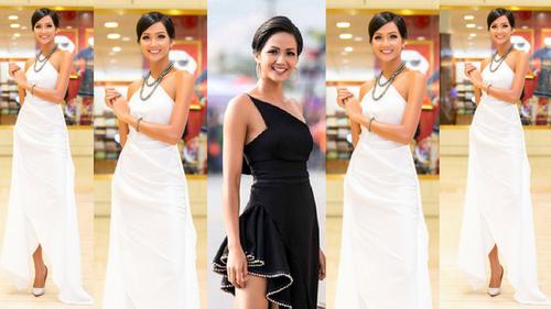 H'Hen Niê trước nay ưu ái sắc trắng, hiếm hoi diện đầm đen thì lại 'sai sai' thế này