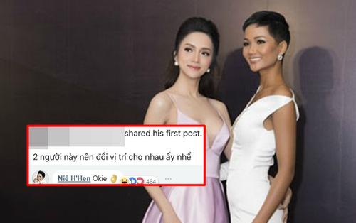 Bị anti-fan yêu cầu đổi vị trí với Hương Giang, Hoa hậu H'Hen Niê thẳng thắn đáp trả