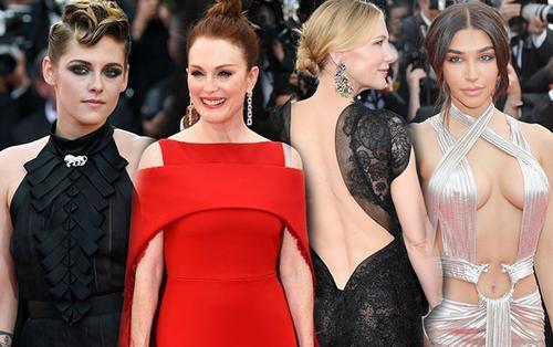 'Bỏng mắt' với loạt váy áo hở ngực, xẻ đùi táo bạo của dàn sao nữ Hollywood tại thảm đỏ Cannes 2018