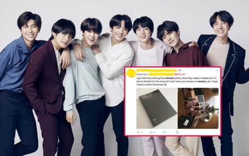 Lỗi vận chuyển hàng, một fan BTS nhận được album dù đĩa còn… chưa lên kệ