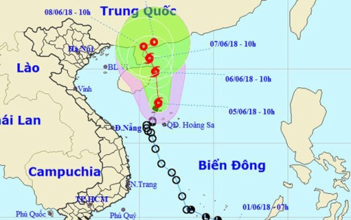 Bão số 2 đang hoành hành trên Biển Đông, hướng thẳng vào Trung Quốc