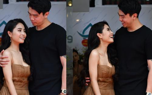 Phát ghen với màn âu yếm của vợ chồng Kiều Anh tại sự kiện