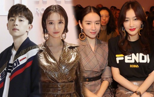'Hoàng hậu' Tần Lam và Đổng Khiết cùng khoe sắc bên Go Jun Hee và Đặng Luân tại 'Tuần lễ thời trang Milan 2019'