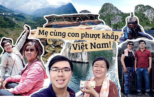 Hành trình phượt gần 6.000 cây số đi khắp Việt Nam của người mẹ 62 tuổi cùng con trai